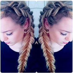 A beautiful side Dutch fishtail combo braid | eliselille
