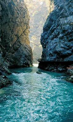 The Vintgar Gorge iin Slovenia