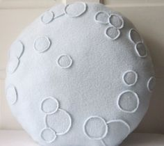 Full Moon Pillow Moon Plush 15 pillow round by WildRabbitsBurrow, $28.00
