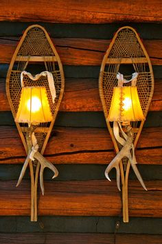 Antique Snowshoe Sconce Set...GOT. TO. HAVE. FOR. Family room