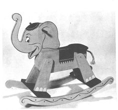 R-UBILD56 - Rocking Horse and Rocking Elephant Vintage Woodworking ...