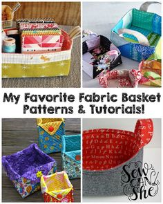 My 4 Favorite Fabric Basket Patterns & Tutorials! — SewCanShe   Free Daily Sewing Tutorials