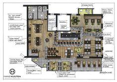 65 ideas for flooring plans restaurant Restaurant Layout, Restaurant Floor Plan, Restaurant Interior Design, Cafe Restaurant, Cafe Interior, Restaurant Ideas, Cafe Floor Plan, Floor Plan Layout, Floor Plans