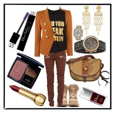 """""""DO YOU SPEAK BALMAIN?"""" by psiluvyou ❤ liked on Polyvore featuring Balmain, Christian Dior and Allurez"""