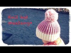 引き上げ編みのニット帽の編み方How to crochet a knit hat by meetang