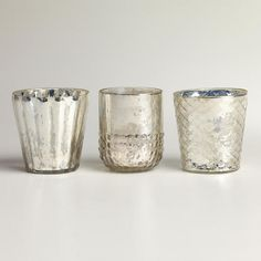 Silver Mercury Glass Votive Candleholders at Cost Plus World Market >> #WorldMarket Gifts for her