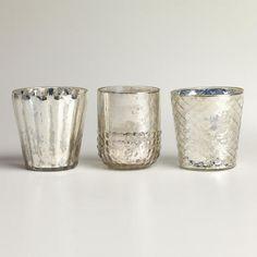 WorldMarket.com: Silver Mercury Glass Votive Candleholders, Set of 3