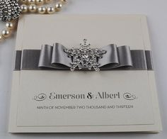 Luxury Crystal Snowflake Handmade Wedding Invitations - Snow Queen