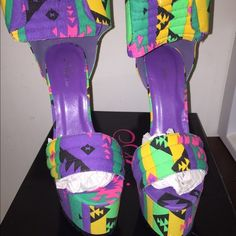 Tribal Print High Heel Sandals NEW IN BOX High Heel Tribal Print Sandal...NEW IN BOX. NEVER WORN...Gorgeous shoe!! AMI CLUBHOUSE Shoes Heels