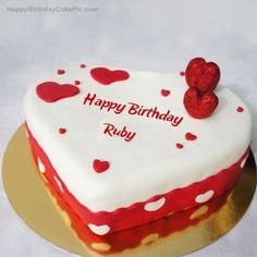 Black Forest Birthday Cake, Heart Shaped Birthday Cake, Heart Birthday Cake, Birthday Cake For Boyfriend, Happy Birthday Hearts, Birthday Wishes Cake, Happy Birthday My Love, Happy Birthday Cakes, Heart Of Ice
