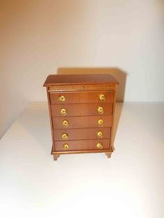 Vintage Shackman Dresser Chest of Drawers for Dollhouse Miniature Furniture