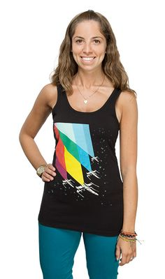 COOL GALACTIC STYLE  Celebrate summer in a galaxy far, far away with this cool and casual top, perfect for cookouts, beaches and pod races!   ThinkGeek