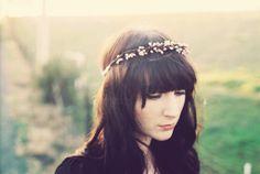 Bohemian bridal head wreath