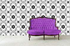 Custom Made Fabric Self-Adhesive WallSkin Strips, easy Peel & Stick, Highest Quality. Reuse Fabric, Shapes And Curves, Easy Peel, House Wall, Fabric Wallpaper, Your Design, Paint Colors, Color Schemes, Love Seat