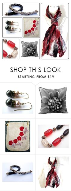 """""""Classic in Red and Black"""" by fibernique ❤ liked on Polyvore"""