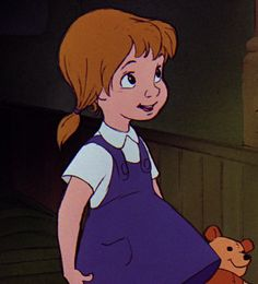 Penny is the tritagonist from Disney's 1977 film The Rescuers, serving as the representation that anyone's dreams can come true if one has enough faith. She is regarded as one of Disney's bravest characters. Penny is a cute, but shy little girl, but is gutsy and very brave, especially when she stood up to Medusa's crocodiles and Medusa herself while held at gunpoint. She desires to go back to the orphanage so that she can be adopted and gain a family but is very insecure about not being...
