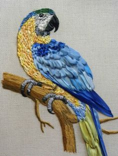 Wonderful Ribbon Embroidery Flowers by Hand Ideas. Enchanting Ribbon Embroidery Flowers by Hand Ideas. Embroidered Bird, Crewel Embroidery, Hand Embroidery Patterns, Embroidery Applique, Embroidery Designs, Ribbon Embroidery Tutorial, Silk Ribbon Embroidery, Ribbon Art, Ribbon Crafts