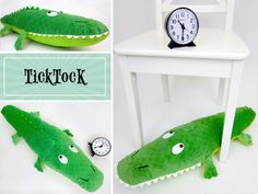Huge Handmade Stuffed Toy ~ Crocodile Pillow - Pattern & Tutorial by Liz Johnson - Love Sewing, Sewing For Kids, Baby Sewing, Diy For Kids, Giant Stuffed Animals, Sewing Stuffed Animals, Stuffed Animal Patterns, Softies, Plushies