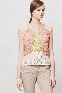 Patchwork Lace Shell by Champagne & Strawberry