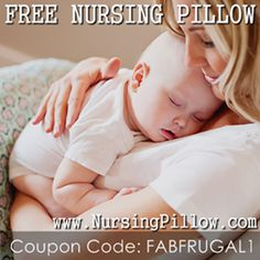 Free nursing pillow - it's a great baby gift idea too!