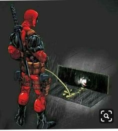 Deadpool going to warch IT - Fuck you, Pennywise. Deadpool Funny, Marvel Funny, Marvel Vs, Marvel Memes, Marvel Dc Comics, Deadpool Stuff, Deadpool Love, Deadpool Art, Deadpool Wallpaper