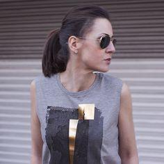 Grey & Gold Rock Chick Top | Urban Gilt Lookbook | Rivington Grey