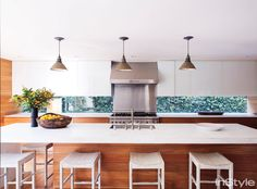 Take a Look Inside Amber Valletta's Santa Monica Abode - The Kitchen from InStyle.com