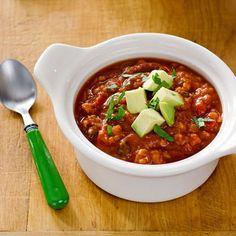 Paleo Crock Pot Caulifower Chicken Chili | cookeatpaleo.com