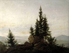 Caspar David Friedrich - Ausblick ins Elbtal 1807