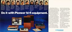 1973 ad for Pioneer HiFi equipment in Reel2ReelTexas.com's vintage recording collection