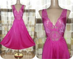 Vintage 80s Vanity Fair PINK Ballerina Nightgown by IntrigueU4Ever, $31.99