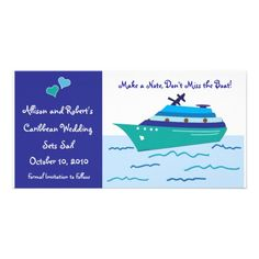 Cruise Ship Save the Date Cruise Ship Save the Date Photo Cards