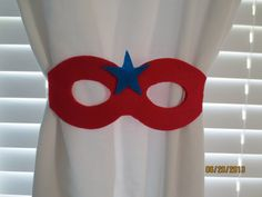 Super Hero Curtain Tiebacks Set of 2 by lilibugcreations on Etsy, $7.00