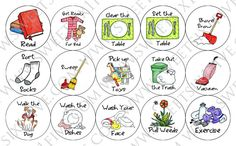 2) Chore Magnets 20 Pack by SweetSix1Five on Etsy
