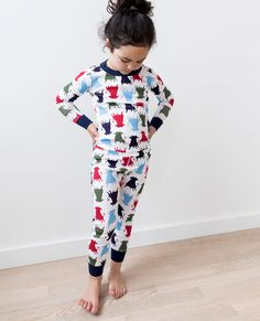 Kids Ferdinanad Long John Pajamas in Organic Cotton at Hanna Andersson