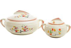 Art Deco Serving Dishes, Pair