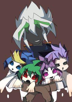 Zarc, Yugo, Yuya, Yuri and Yuto