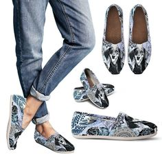 Details: Features a full wrap canvas print. Elastic stretch V for easy on-and-off use. High quality canvas construction for everyday use and durable EVA outsole for exceptional traction. Product made to order. Cow Girl, Buy Shoes Online, Clearance Shoes, Casual Shoes, Women's Casual, Shoe Boots, Just For You, Slippers, Flats