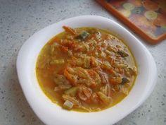 Recept: Zeleninová polévka podle Mačingové, 28-denní detox Thai Red Curry, Ethnic Recipes, Food, Diet, Essen, Meals, Yemek, Eten