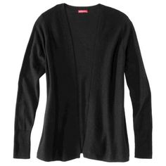 Merona® Women's Layering Open Cardigan - Black - L