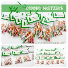 Inexpensive treat (((kids can even make)) - Great for parties, teachers, class. FREE tag download