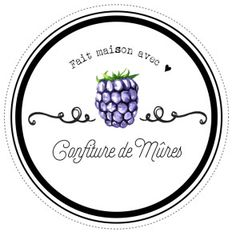 Etiquettes pour confitures de mûres maison par Lily Ciboulette www.lilyciboulette.com