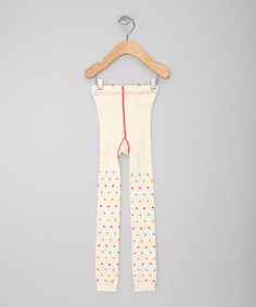 Another great find on #zulily! Ivory Polka Dot Organic Leggings - Infant, Toddler & Girls #zulilyfinds