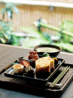 Japanese dish with miso soup | Kyoto, Japan 利久弁当... The way it is presented... true elegantly...:)