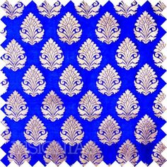 Indian Silk Georgette Brocade Fabric