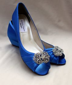 Awesome Wedding Shoes Wedge Inch Wedge Shoes Wide By With Low Heel Blue  Wedding Shoes