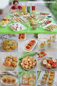Party Food Buffet, Appetizer Buffet, Appetizer Recipes, Amazing Food Decoration, Mini Foods, Snacks, Antipasto, Holiday Desserts, Panini