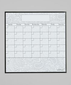 Take a look at this Paisley Fridge Calendar by a'la Board on #zulily today! $16.99, usually 25.00