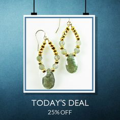 Today Only! 25% OFF this item.  Follow us on Pinterest to be the first to see our exciting Daily Deals. Today's Product: Labradorite & Gold Pyrite Earrings, Gemstone Earrings Buy now: https://www.etsy.com/listing/456962610?utm_source=Pinterest&utm_medium=Orangetwig_Marketing&utm_campaign=Daily%20Oct   #etsyjewelry #etsy #etsyseller #etsyshop #etsylove #etsyfinds #etsygifts #gemstone #gemstonejewelry #photooftheday #instacool #shopping #onlineshopping #instashop #instagood #loveit #shop…