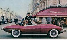 Jaguar advertisement for the E-Type Mk II 3.8 (1961)